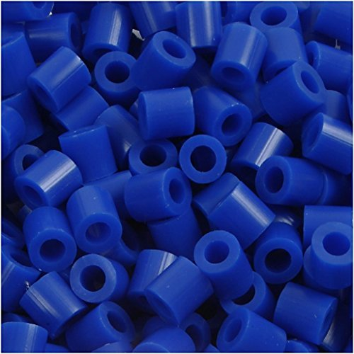 Fuse Beads, size 5x5 mm, hole size 2,5 mm, dark blue (21), medium, (21 Fuse)