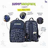 Superbottoms Superbackpack for Parents On The Go - Ikat Chevron Print (White)