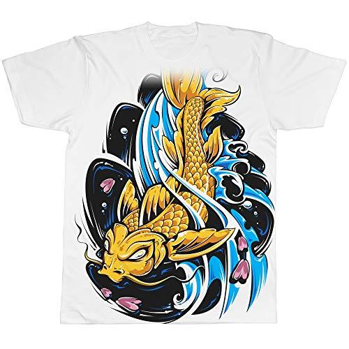 Allover t-shirt manica corta carpa koi tattoo (l)