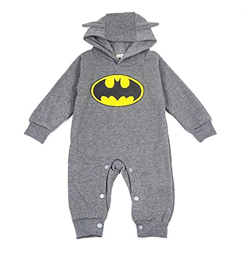 unknown DS STRAMPLER OVERALL BATMAN **GRAU** BABY SPIELANZUG (68)
