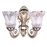 Sanleen Enterprises Antique Portuguese Style Double Lamp Home Decor Light Lamp Wall Fixture with Led Bulbs 5 Watt
