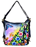 Niarvi Cosmic Flowers Handpainted Echt Leder Handtasche