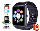 Smart Watch, 11TT Bluetooth Smartwatch YG8 Uhr Intelligente Armbanduhr Fitness Tracker Armband Sport Uhr Telefon mit 16 GB SD Karte und SIM Card Slot für Android Samsung S5 S6 Note 4 5 HTC Sony LG und iPhone 5 5S 6 6 Plus Smartphone (Schwarz-Geschenk)