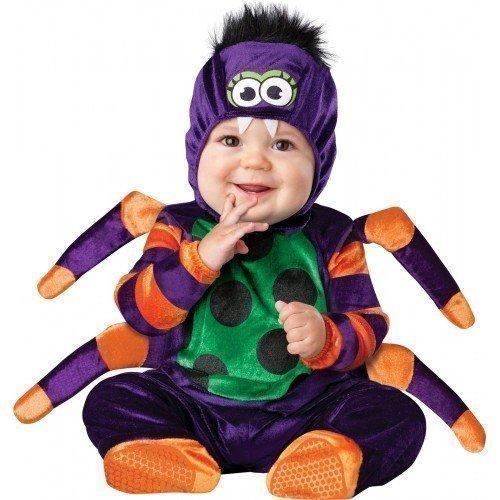 Kostüme Charakter (Deluxe Baby Jungen Mädchen Itsy Winzig Spinne Buch Tag Halloween Charakter Kostüm Kleid Outfit - Schwarz, Schwarz, 12-18)