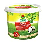 Compo Rasen-Langzeitdünger, Rasenpflege mit bis zu 3 Monaten Langzeitwirkung, für dichten, tiefgrünen und robusten Rasen, 8 kg für 320 m²