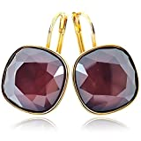 Ohrringe mit Kristallen von Swarovski® für Damen - Viele Farben - Gold - NOBEL SCHMUCK … (Dark Red)