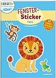 Fenster-Sticker. Tiere: 24 Ausmalseiten, 20 Folien-Sticker (Malbücher und -blöcke)