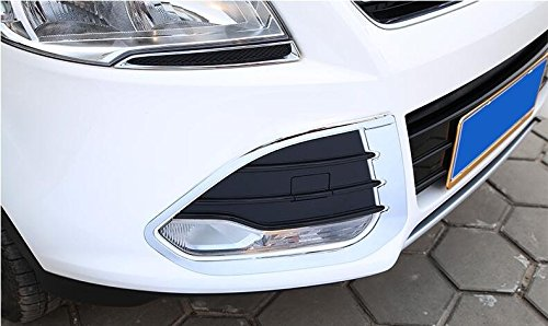 Chrome ABS Front Head, Lampe, Surround Trim für Ford Kuga 2013 2014 2015 Front-lampe