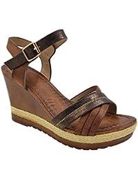 948c6c2e385 MaxMuxun Womens Comfort Wooden Platform Wedge Sandal UK Size 3-8
