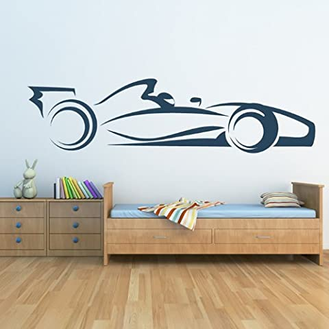 Car F1 Racing Corsa Wall Sticker Adesivo Art disponibile in 5 dimensioni e 25 colori Extra Grande Nero - Black Art Corsa