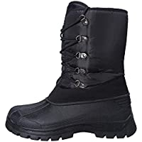 Mountain Warehouse Plough Mens Snow Boots - Breathable Snowboots, Snowproof Mens Boots, Durable Textile, Rubber Outsole Winter Shoes - for Holidays in Cold Weather