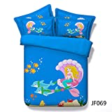 Ruixinshi Quilt und Kissenbezug Bettwäsche Set Bettwäsche Hd Digitaldruck Bett 260 * 225