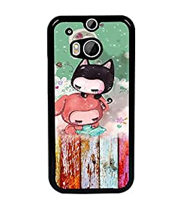 PrintDhaba Cartoon D-3157 Back Case Cover for HTC ONE M8s (Multi-Coloured)