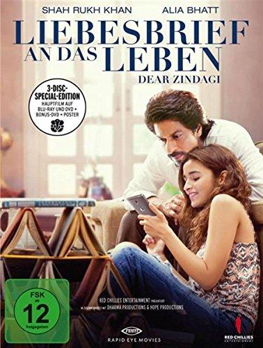 Liebesbrief an das Leben - Dear Zindagi (Limitierte Special Edition mit Poster) [Blu-Ray] [DVD]