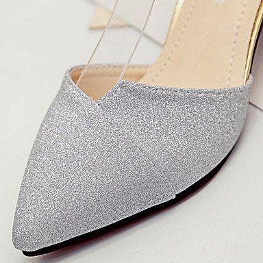 LvYuan Da donna Sandali PU (Poliuretano) Estate Footing Fibbia Heel di blocco Oro Argento 5 - 7 cm Gold