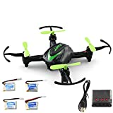 OUYAWEI JJRC H48 Mini RC Quadcopter Indoor Controller Che Carica Drone Aircraft Small Green Five Power Version + X4 Charger Quadrocopter