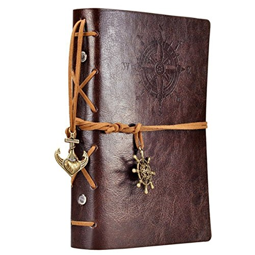 NectaRoy Retro Vintage Ubierta de Cuero de la PU Cuaderno Agenda Bloc de Notas...