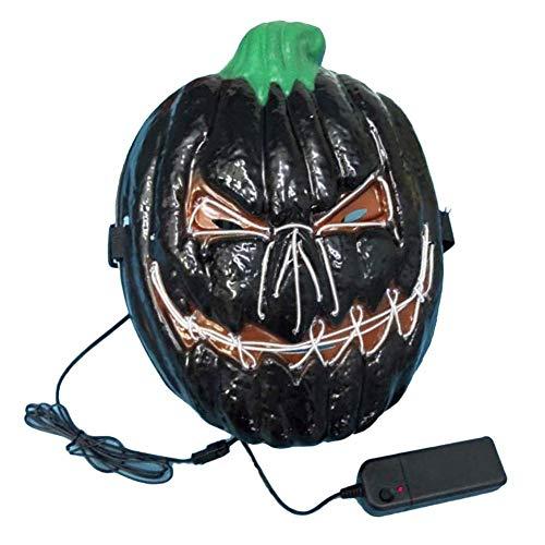 Luckyx Halloween LED Maske Kürbis Deluxe Neuheit Halloween Kostüm Party Kürbiskopf Leuchtstoff Kürbis Terrorist EK Leuchtmaske Ghost Festival Maskerade Ghost Face Dekoration Requisiten (Skinz Kostüm)
