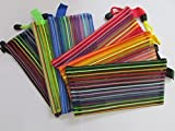 #7: Transparent Zippered Nylon Kit / Multi Purpose Pouch / Stationery Kit / Cosmetics Kit / Shaving Kit / Travelling Kit - Color May Vary - Pack of 4
