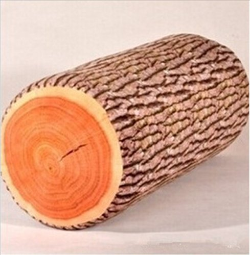 Zhuhaixmy Weiches Kissen-kreative Geschenk-Baumstumpf Kissen Chopping Block Spielzeug Kissen Ginkgobaum Abschnitt Lange 50cm