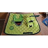 Equipride Juego de almohadillas para sillín con velo y vendas a juego, color verde lima