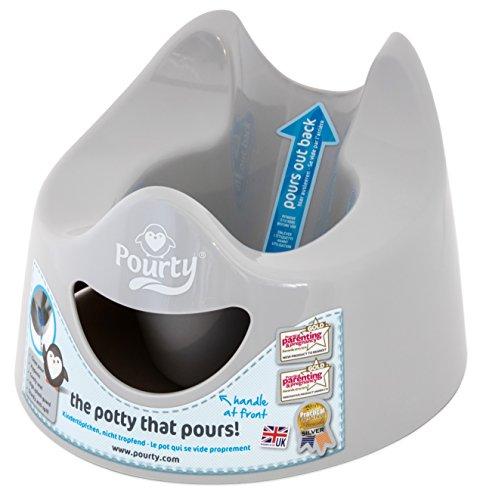 Pourty easy-to-pour Töpfchen (Pinguin grau)