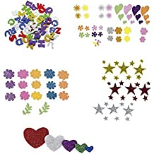 Smart 68002400 - Pack de 78 letras de goma Eva, multicolor