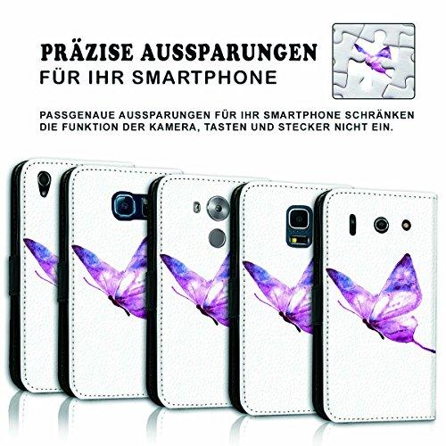 Wallet Book Style Flip Handy Tasche Case Schutz Hülle Schale Motiv Etui für Apple iPhone 6 Plus / 6S Plus - Variante UMV18 Design12 Design 8