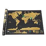 Delaman Carte du Monde à gratter, Affiche Carte Personnalisée de Voyage et Aventure Cadeau pour Voyageur Décoration Murale