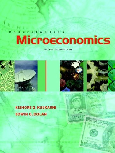 Understanding Microeconomics w/Study Guide (Revised Edition) by David E. Lindsey Kishore Edwin G. Dolan (2005-08-01)