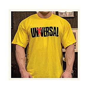 Universal Nutrition Animal Since `77 T-shirt style vintage Jaune SMALL