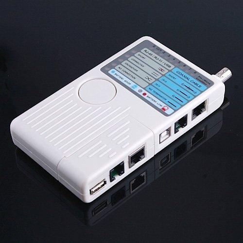 Kkmoon - Probador de Cables de Red, RJ11 RJ45 USB BNC