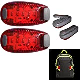 Zaino per alpinismo esterno Light Road Safety Clip Light 2Pcs - Luce a clip per zaino