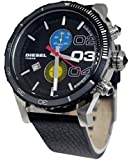 Diesel Herren-Armbanduhr XL Chronograph Quarz Leder DZ4331