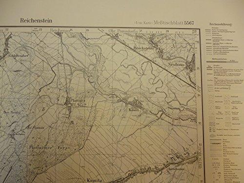 Preisvergleich Produktbild Meßtischblatt Nr. 5567 - Reichenstein - Topographische Karte 1 : 25 000 ( 4 cm-Karte )
