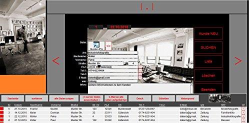 FOTO-PROF 3.0 Fotostudio Kundenverwaltung für Fotografen Fotogeschäfte Fotostudios Fotoläden (auch die noch mit Excel OpenOffice arbeiten) Fotografie Kundenverwaltungsprogramm Terminmanagement Standsendung flexibel für Windows 10,8,7,Vista,XP +Mac OS X bis 10.13 High Sierra Apple (als Download bitte ein Hinweis bei der Bestellung senden)