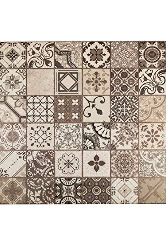 Marokkanische Fliesen Wandfliesen bunt 1 Stk Muster 11 | Orientalische Fliese als Wanddekoration im Bad oder Küchenrückwand | Bunte Mosaikfliesen Design als Deko für die Wand im Badezimmer Küche