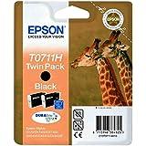 Epson C13T07114H10 - T0711 Twin Pack - Print cartridge - high capacity - 2 x black