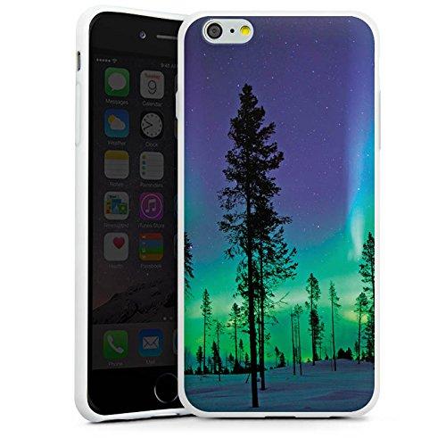 Apple iPhone X Silikon Hülle Case Schutzhülle Bäume Himmel Mystisch Silikon Case weiß