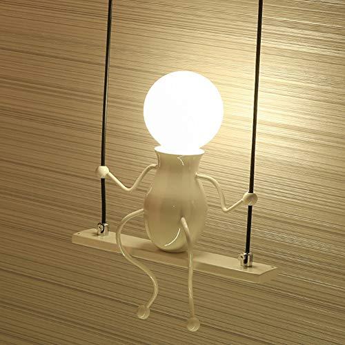 EDtara Geschenke für Jungen Männer Mode einzigen Kopf Person Form Wandlampe Halter für Kinder Schlafzimmer Dekor (ohne Glühbirne) Weiß