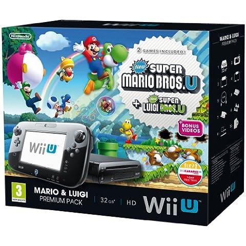 Nintendo Wii U 32Gb New Super Mario Bros And New Super Luigi Bros Premium Pack - Black (Nintendo Wii U) [Importación