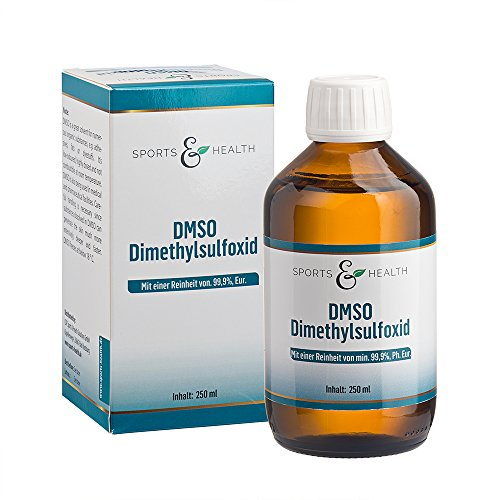 Verstärkte Haut-verschlüsse (DMSO flüssig - 250 ml - Vorratspackung- Dimethylsulfoxid - Unverdünnt- 99,9% pharmazeutische Reinheit - Made in Germany - Apothekenflasche - Braunglas)