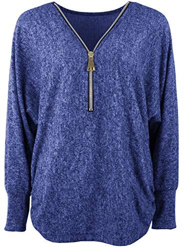 Emma & Giovanni - T-Shirt/Top - Donna (L/XL, Blu)