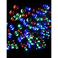 ChristinaC 17m 100-led ad energia solare luci di Natale stringa di lampada lampeggiante esterna coperta luce di striscia - rgb