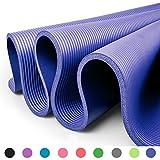 Glamexx24 XXL Fitnessmatte Yogamatte Pilatesmatte Gymnastikmatte EXTRA-dick und weich, ideal für Pilates, Gymnastik und Yoga Dunkel Blau
