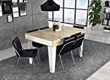 Home Innovation - Table Console Extensible, rectangulaire avec rallonges, Nordic KL...