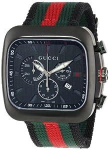 Gucci YA131202 - Reloj de cuarzo unisex, con correa de nailon, color multicolor de Gucci