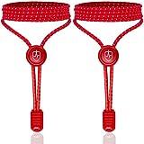 High Pulse Schnellschnürsystem - EIN Paar elastische Schnürsenkel mit Schnellverschluss für einen perfekten Sitz und sicheren Halt (Rot)