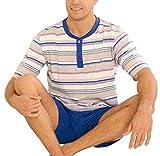 Pijama de Caballero Corto Moderno a Rayas/Ropa de Dormir para Hombre - Punto, 100% algodón - Talla...