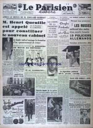 PARISIEN LIBERE EDITION DE PARIS (LE) [No 1240] du 09/09/1948